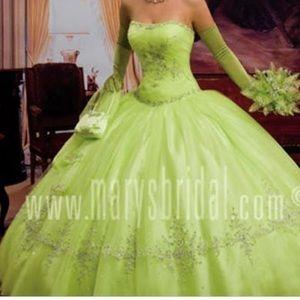Lime Green Dress size 16